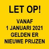Prijswijzigingen 2021